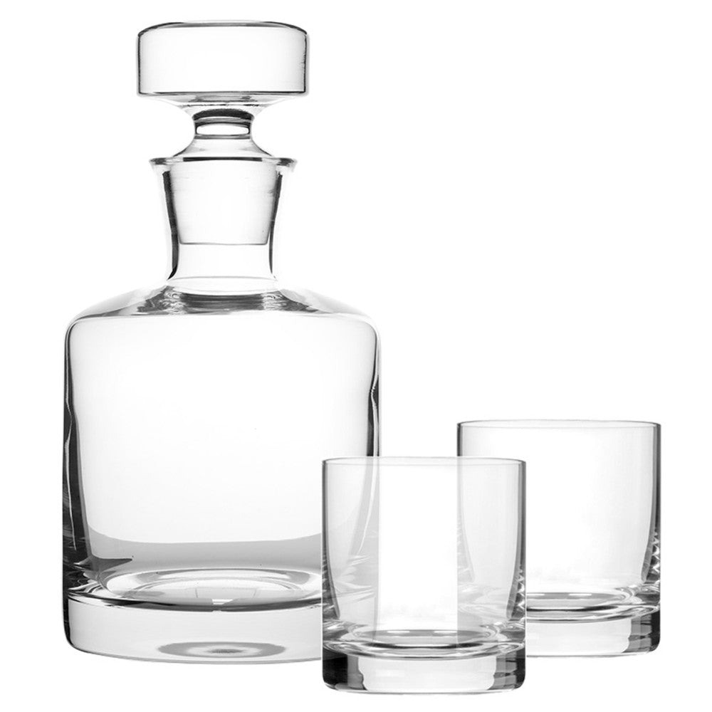 Round Whisky Decanter and Glasses Set