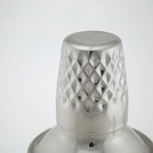 Mid-Century Modern Faceted Steel Cocktail Shaker