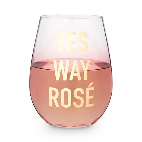 Yes Way Rosé Stemless Wine Glass