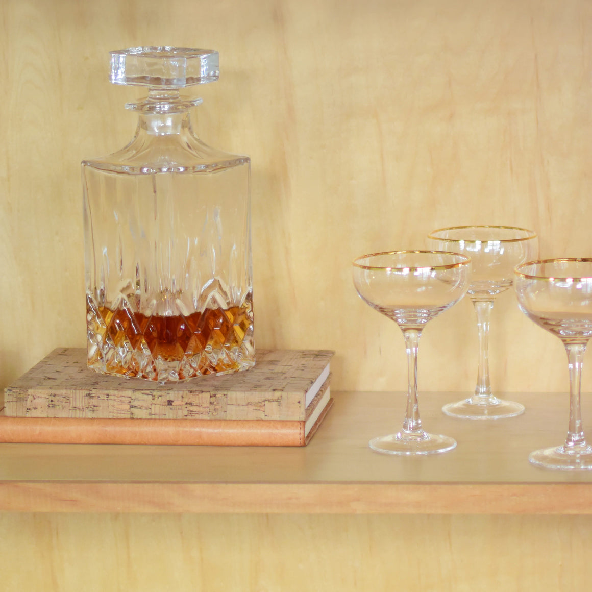 Classic Cut Glass Whisky Decanter
