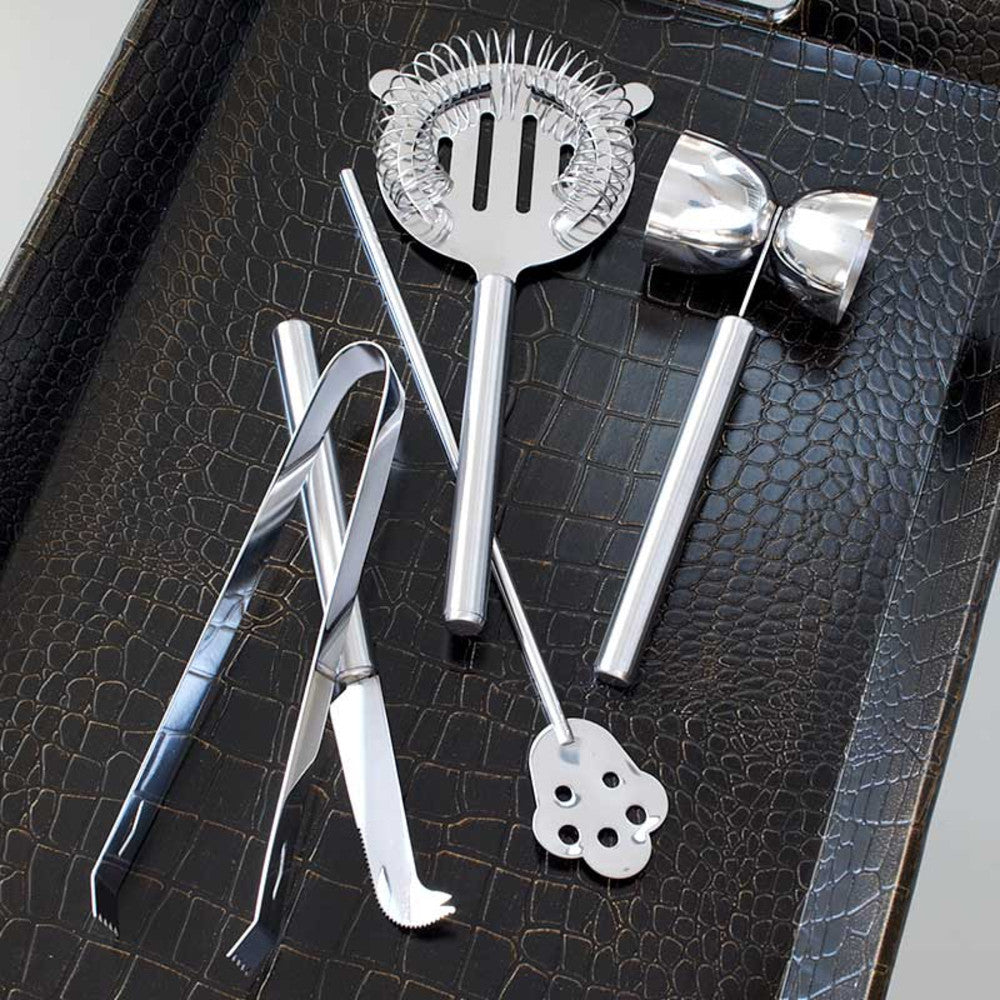 7 Piece Barware Tool Set & Stand