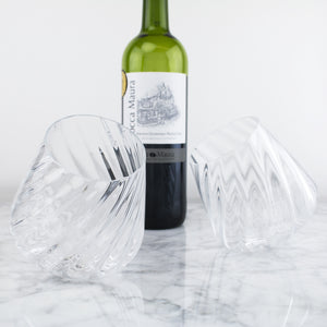Optic Twist Wine Glass