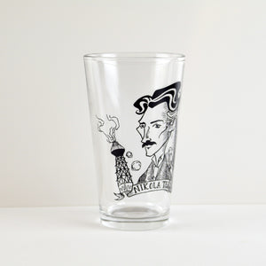 Nikola Tesla Pint Glass (Set of 2)