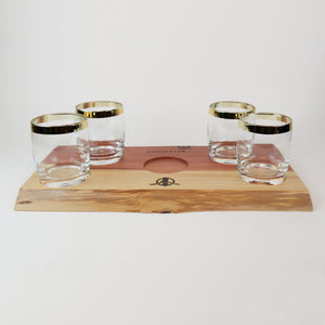 Offerman Woodshop Lagavulin Glasses & Tray Set