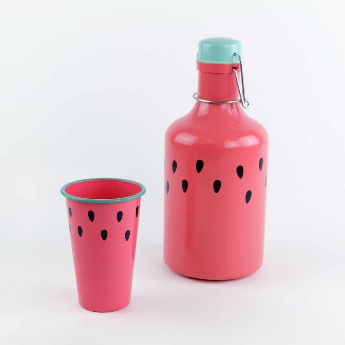 Watermelon Enamel Pint Glass