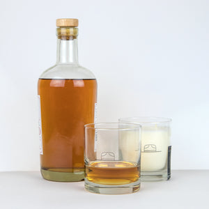 Ranger Station Whiskey Glass/Candle