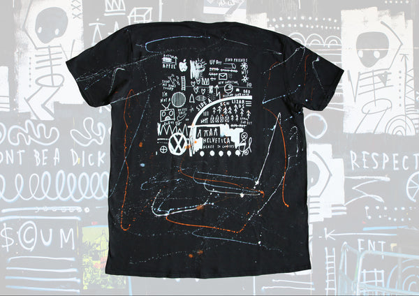 Wearable Art - Hand Finished Baggy Black T-Shirt XL/XXL