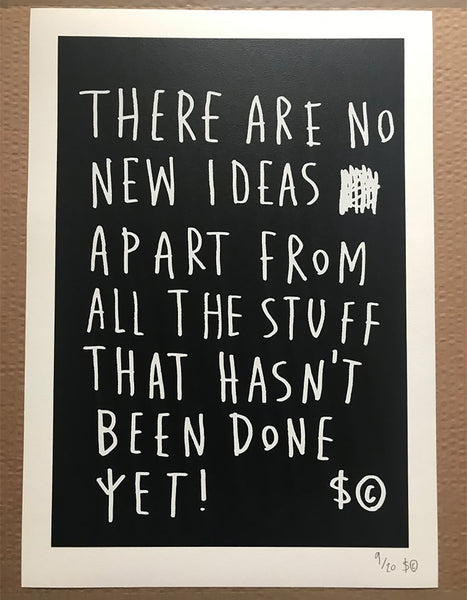 No New Ideas