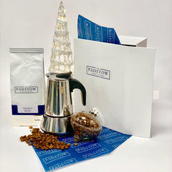 Stovetop Moka Pot and Coffee Gift Set