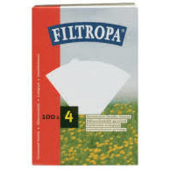 Filtropa White Size 4 Filter Papers (100)