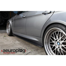 bmw e90 m3 carbon fiber side skirt extension splitters