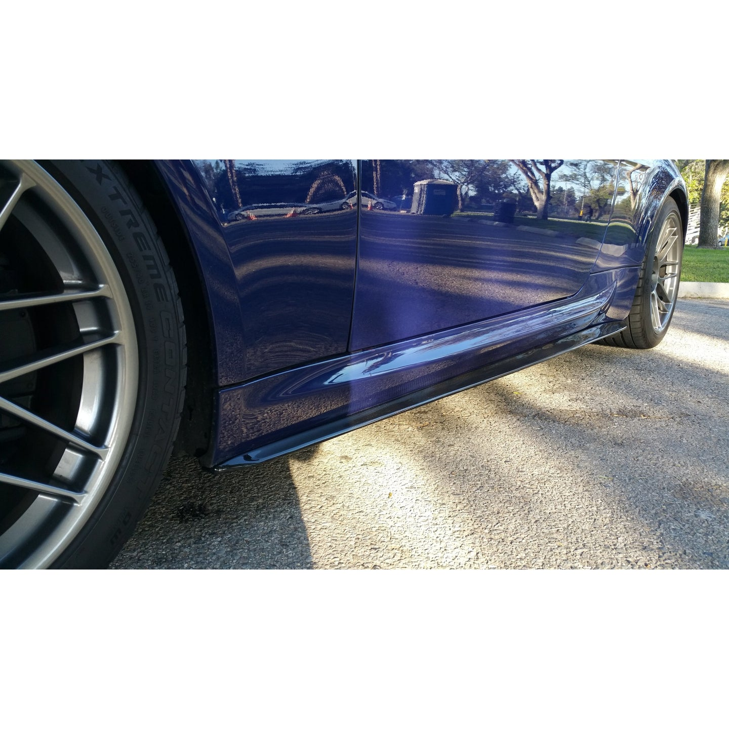 DINMANN BMW E63 M6 CARBON FIBER SIDE SKIRT EXTENSIONS - AEUROPLUG