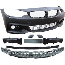 bmw f32 f33 f36 4 series msport style front bumper w fog light grilles