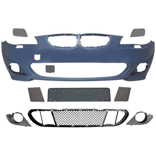bmw e60 2004 2010 mtech style front bumper w o pdc w regular fog lights