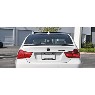 bmw e90 performance style carbon fiber trunk spoiler