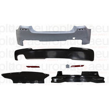 bmw f10 mtech performance style rear bumper dual single exhausts
