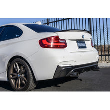 bmw f22 carbon fiber performance style trunk spoiler