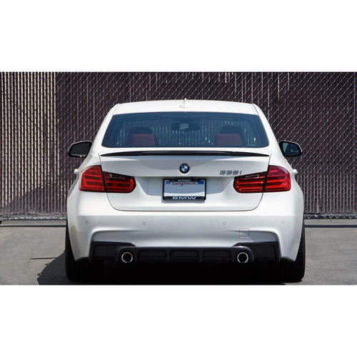 bmw f30 performance carbon fiber trunk spoiler