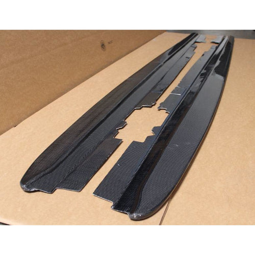 FORCEWERKZ BMW F30 CARBON FIBER SIDE SKIRT EXTENSION SPLITTERS - AEUROPLUG