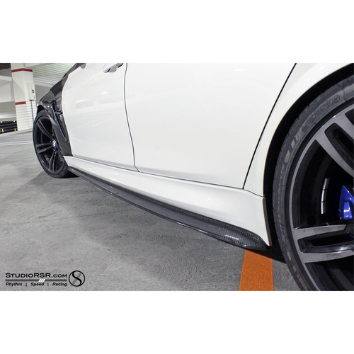 DINMANN BMW F8X M3 / M4 CARBON FIBER SIDE SKIRTS EXTENSIONS