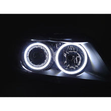 DEPO BMW E90 / E91 06-08 PROJECTOR HEADLIGHTS WITH V2 ANGEL EYES - AEUROPLUG