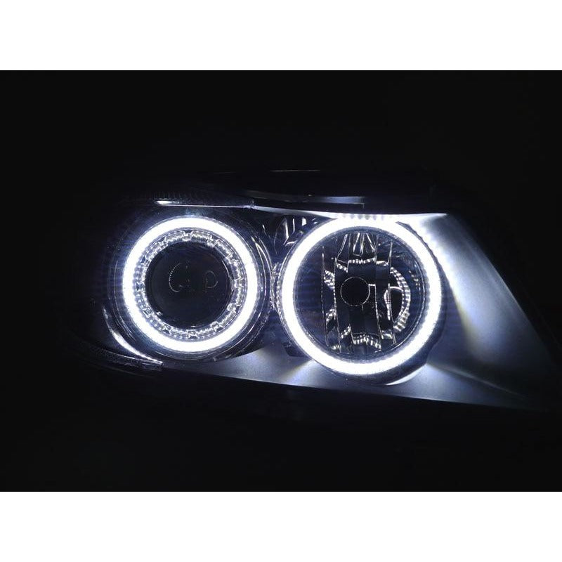 Depo Bmw E90 E91 06 08 Projector Headlights With V2 Angel Eyes