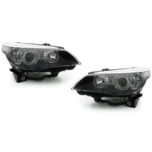 DEPO BMW E60 04-10 PROJECTOR HEADLIGHTS WITH V3 F30 STYLE ANGEL EYES - AEUROPLUG