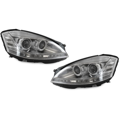 W221 FACELIFT STYLE LED HEADLIGHTS WITH HID - AEUROPLUG