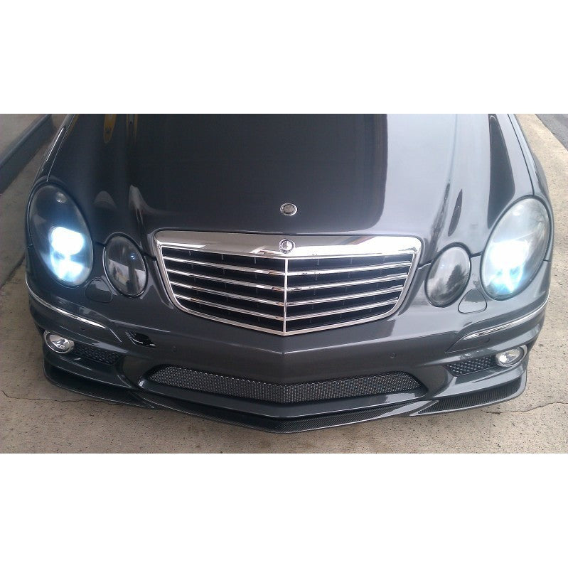 w211 e63 amg carbon fiber front lip godhand style rep oem