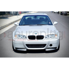 BMW E46 M3 CSL REPLACEMENT CARBON FIBER SPLITTERS FOR CSL STYLE BUMPER - AEUROPLUG