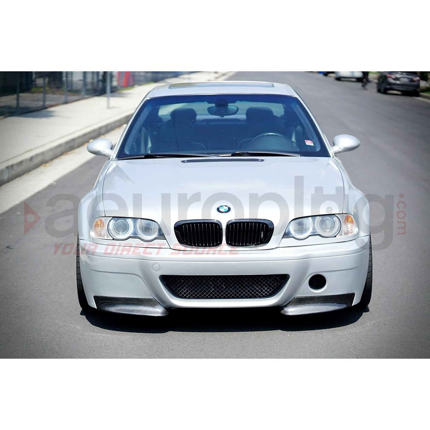 bmw e46 m3 csl replacement carbon fiber splitters for csl. Black Bedroom Furniture Sets. Home Design Ideas