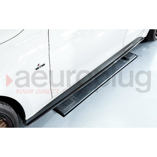BMW F30 PERFORMANCE STYLE  CARBON FIBER SIDE SKIRT EXTENSIONS - AEUROPLUG