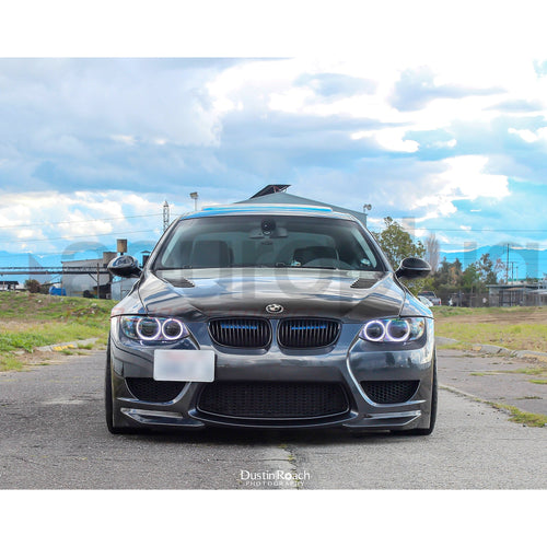 BMW E92 AMUSE STYLE FRONT BUMPER W/ CARBON SPLITTERS - AEUROPLUG