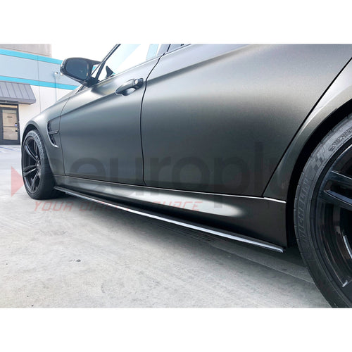 BMW F80 F82 M3 M4 CARBON FIBER SIDE SKIRT EXTENSIONS