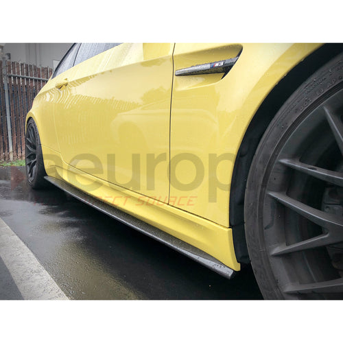 BMW E92 E93 CARBON FIBER SIDE SKIRT EXTENSION SPLITTERS - AEUROPLUG