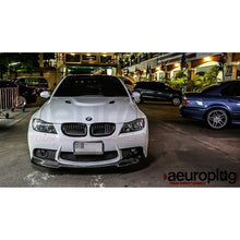 bmw e90 e92 vorsteiner style carbon fiber front lip for m3 rep bumper
