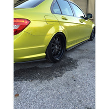 w204 c63 sedan carbon fiber side skirt extensions