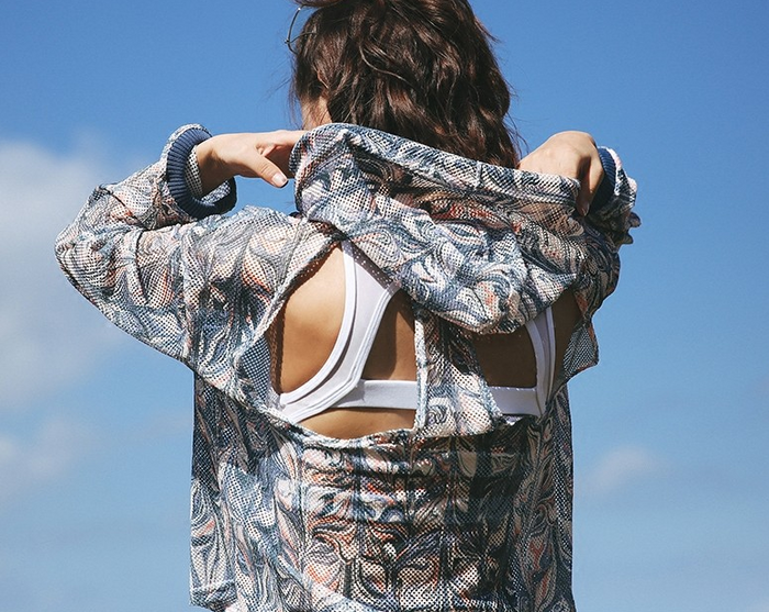 Loose Back Jacket Tribal Pattern - NorthPoint Yoga