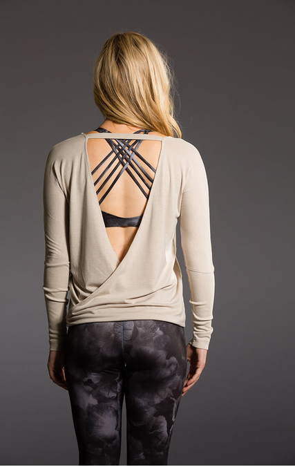 Drapey V Back Sweater - NorthPoint Yoga