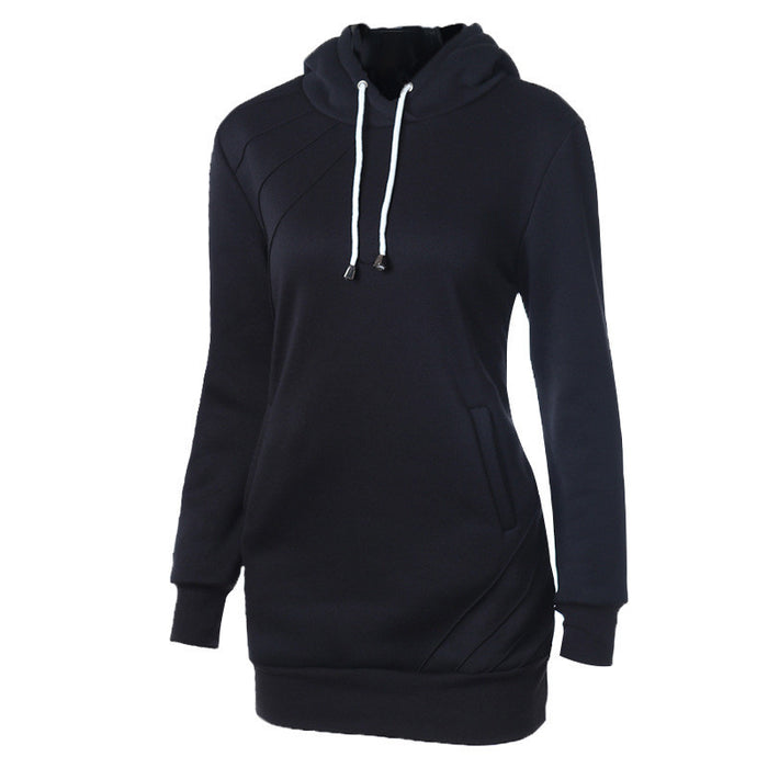 Black & Long Hoodie - NorthPoint Yoga