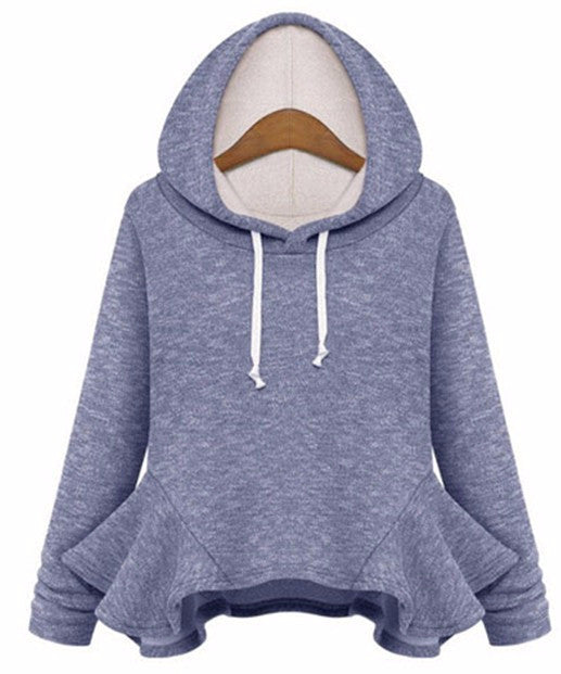 Thick Flounced Long-sleeved Hoodie - NorthPoint Yoga