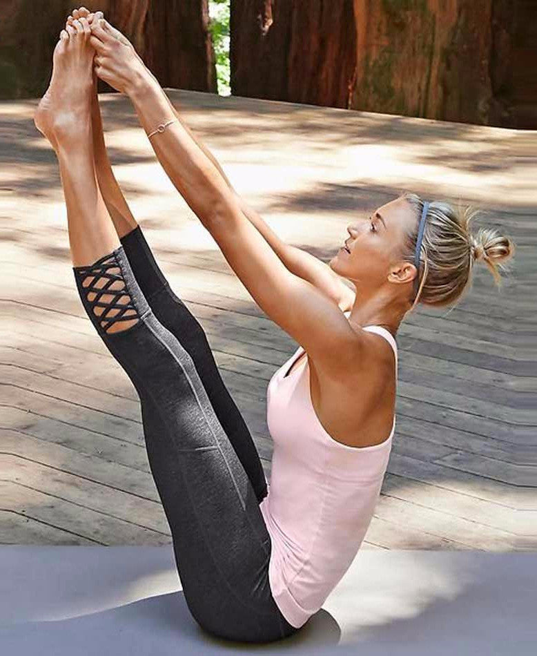 Mesh Contrast Yoga Legging - NorthPoint Yoga