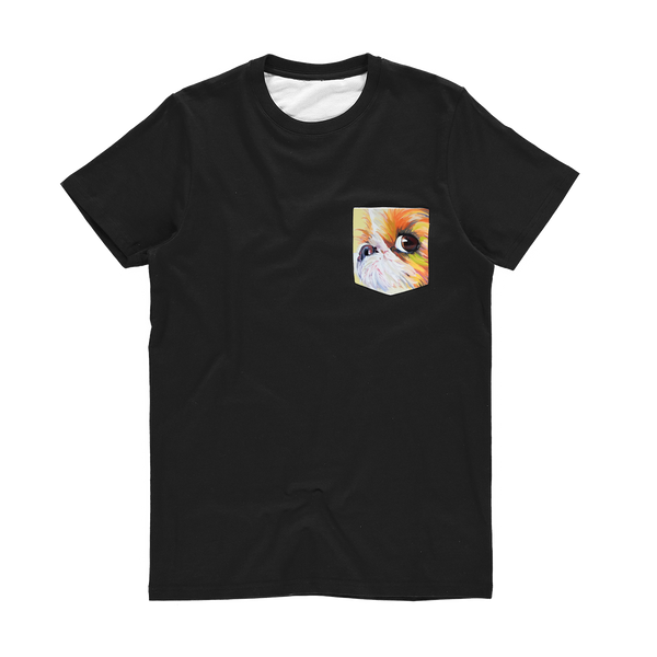 Pocket T-Shirt - Eye Shih tzu not