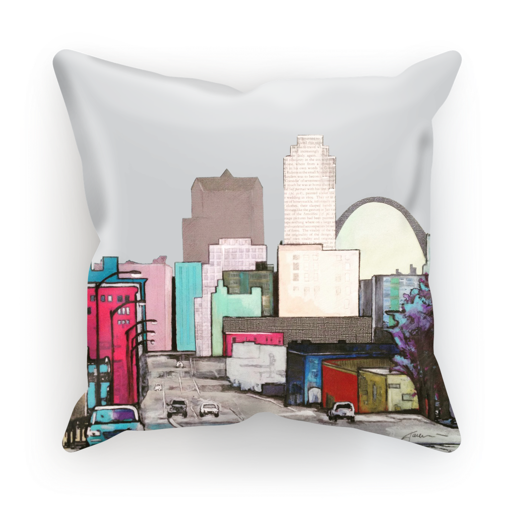 St. Louis - pink Cushion Cover