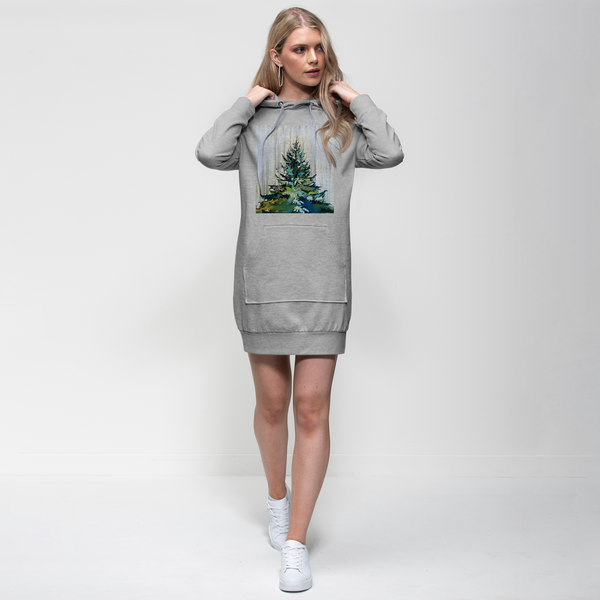 Winter Tree - Adult Hoodie Dress