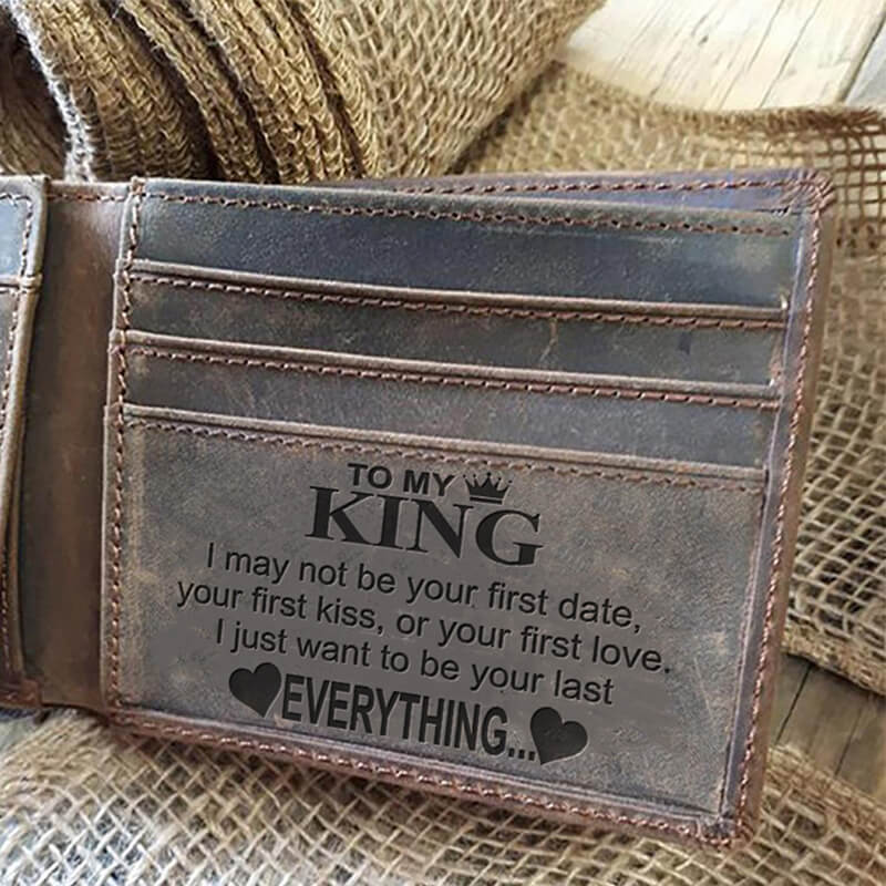 To My King (Leather Wallet)