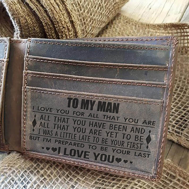 To My Man - I Love You (Leather Wallet)