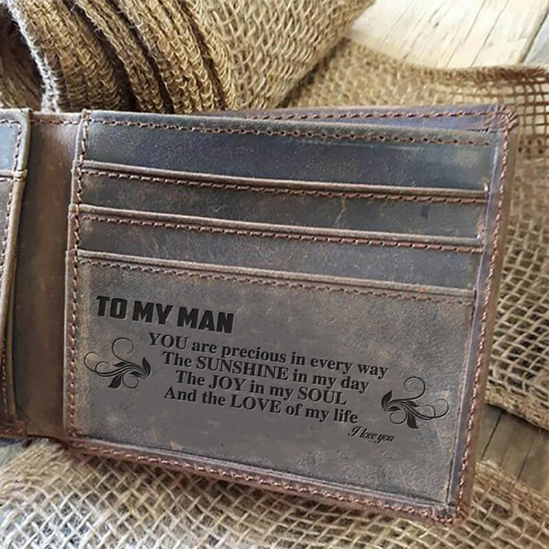 To My Man - Precious (Leather Wallet)