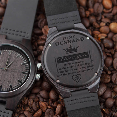 To My Husband (Wood Watch)