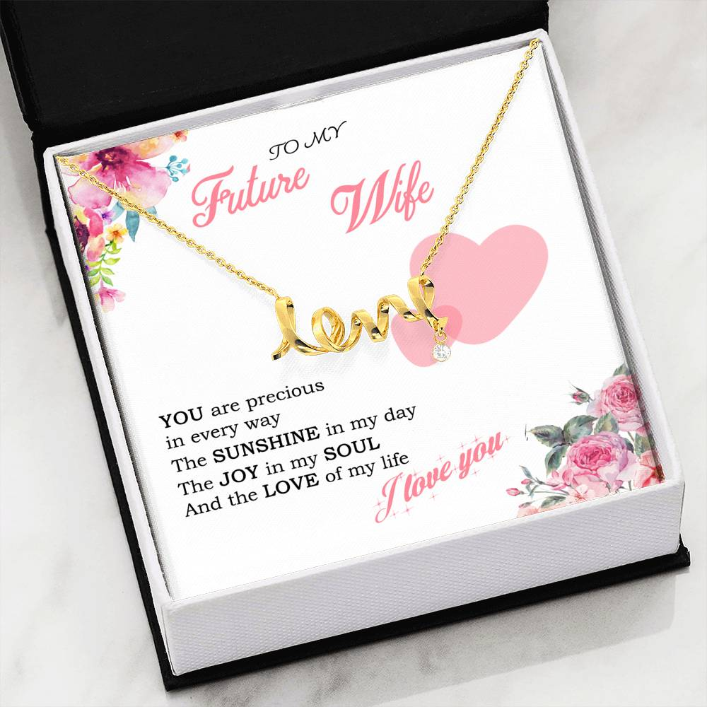 To My Future Wife - Precious (Love Necklace)